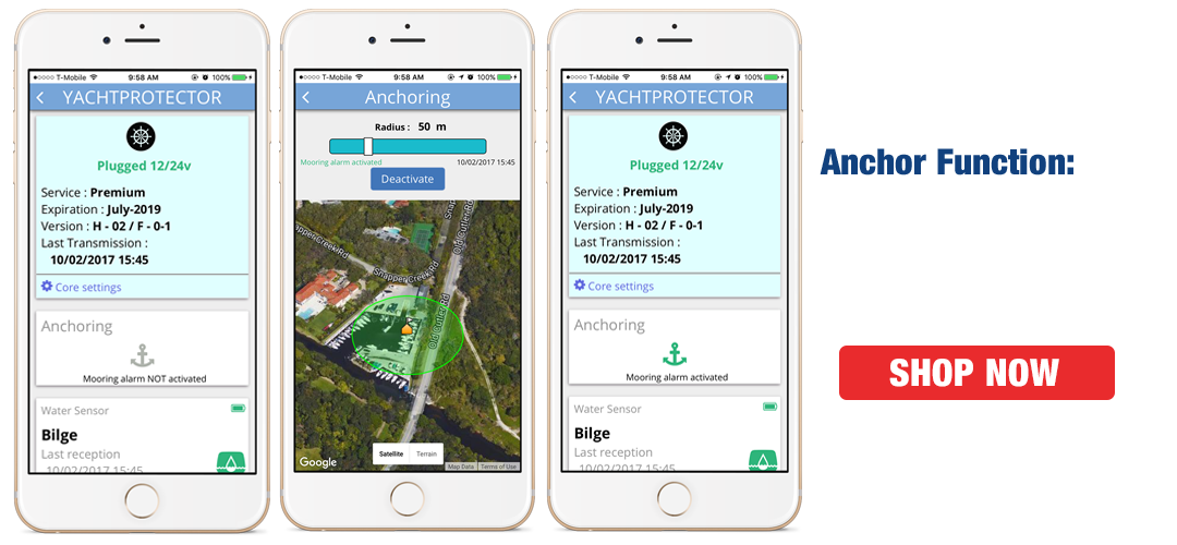 Yacht Protector Anchor Function APP